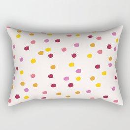 Autumn Paint Spots Rectangular Pillow