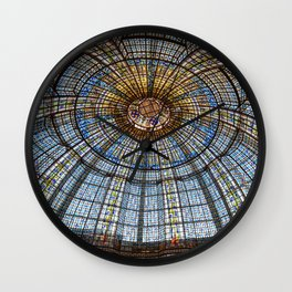 Glass Ceiling Wall Clock