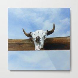 Blue Sky and the Bull Metal Print