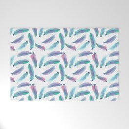 Watercolor Feathers Welcome Mat