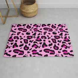 Pink Leopard Print Rug
