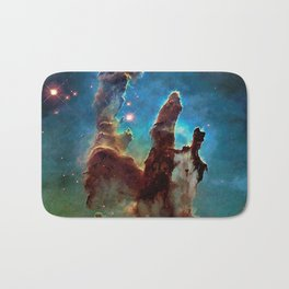 Eagle Nebula's Pillars Bath Mat