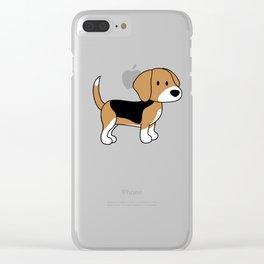 CUTE BEAGLE Clear iPhone Case