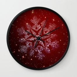 Elegant Christmas Snowflake Wall Clock