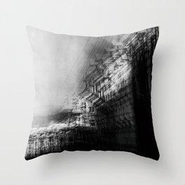 city in monochrome Throw Pillow