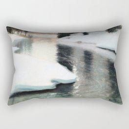Frits Thaulow - Spring Thaw - Digital Remastered Edition Rectangular Pillow