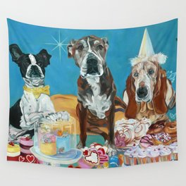 The Last Dessert Dog Portrait Wall Tapestry
