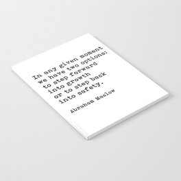Step Forward Into Growth, Abraham Maslow, Motivational Quote Notebook