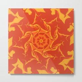 Red Orange and Yellow Kaleidoscope 3 Metal Print