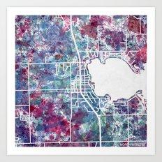 North Webster map Art Print