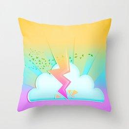 Lightning festival Throw Pillow