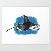 The Other Manta Ray Art Print