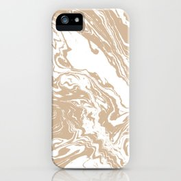 Masago - spilled ink abstract marble painting watercolor marbling cell phone case iPhone Case