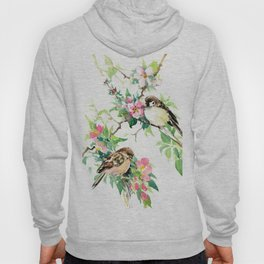 Sparrows and Apple Blossom Hoody