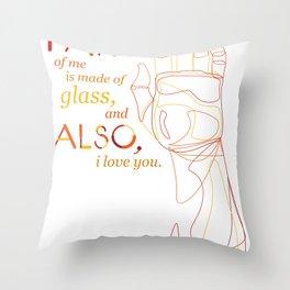 Made of Glass Throw Pillow