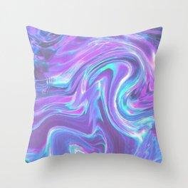 iridescent   bleu's creations. Throw Pillow