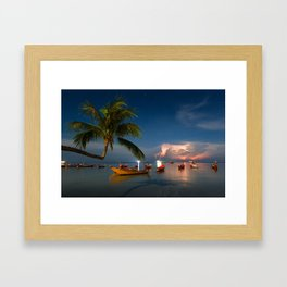 Thailand in the storm Framed Art Print