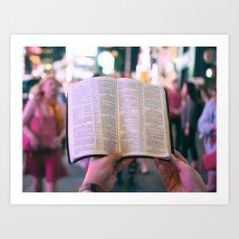 Street Preaching Art Print