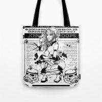 propaganda Tote Bags featuring Stormtrooper Propaganda by chokidokii