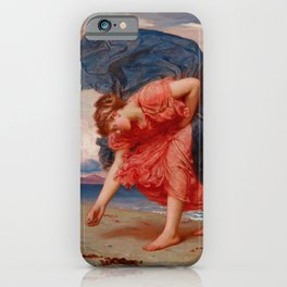 "Frederic Leighton ""Greek Girls Picking up Pebbles by the Sea"" iPhone Case"