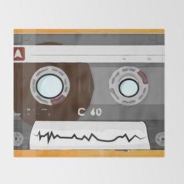The cassette tape Robot Throw Blanket