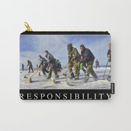 Responsibility: Inspirational Quote and Motivational Poster Carry-All Pouch
