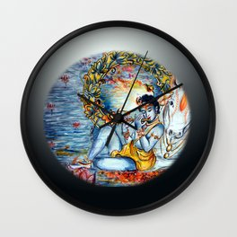 Krishna  Wall Clock