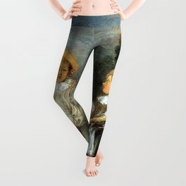 "Antoine Watteau ""Heureux age! Age d'or (Happy Age! Golden Age)"" Leggings"