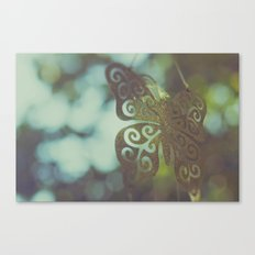 Bokeh With Butterfly Wings Canvas Print