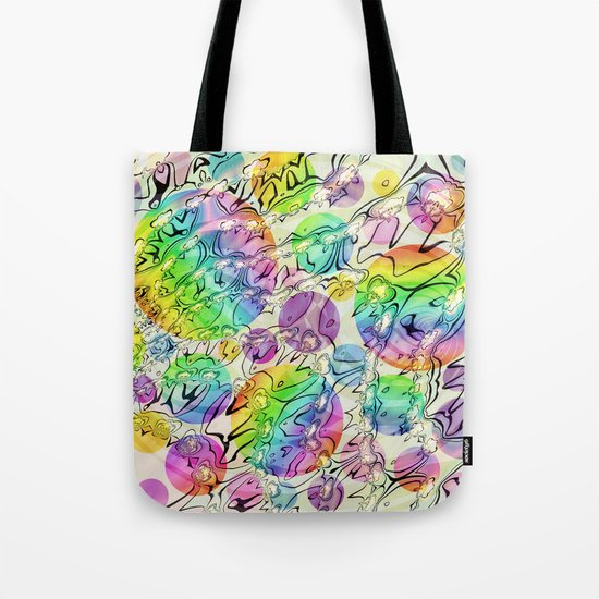 bursting bubbles are free Tote Bag