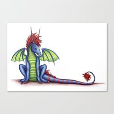 Striped Dragon Canvas Print
