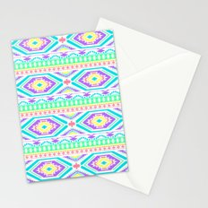 Aztec Geometric Print - Pastel bright colours Stationery Cards