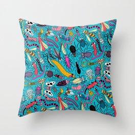 Bug Pattern Throw Pillow