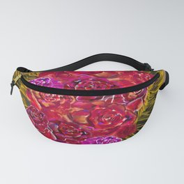 Roses over paper Fanny Pack