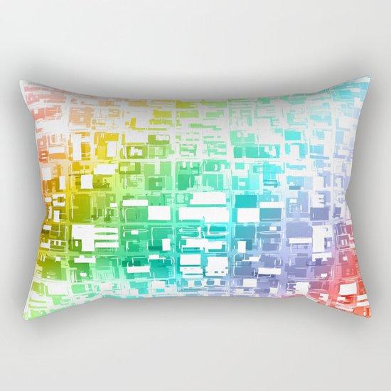 spectrum construct Rectangular Pillow