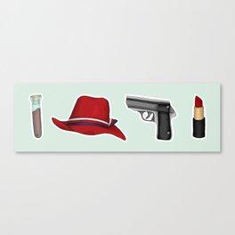Peggy Carter Items Canvas Print