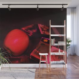 Apple and Cassettes Wall Mural
