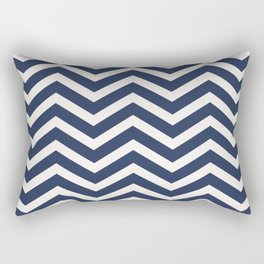 Nautical chevron pattern Rectangular Pillow