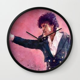 The Purple Rain of Prince Wall Clock