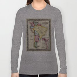 Vintage Map of South America (1860) Long Sleeve T-shirt