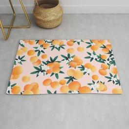 Orange Twist Flower Vibes #7 #tropical #fruit #decor #art #society6 Rug