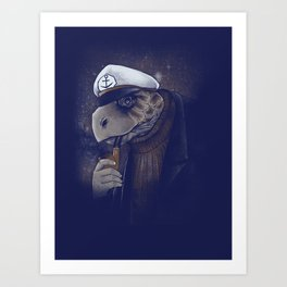 Turtlenecked Sea Captain Art Print