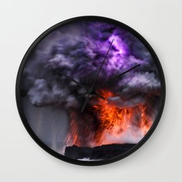 Kilauea Volcano at Kalapana 7 Wall Clock
