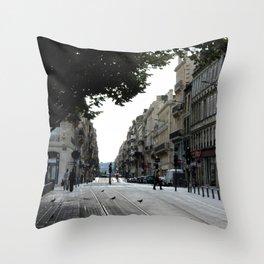 Bordeaux tram tracks Throw Pillow