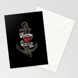Funny Saying Feelin Nauti With Anchor For Sailors Stationery Cards