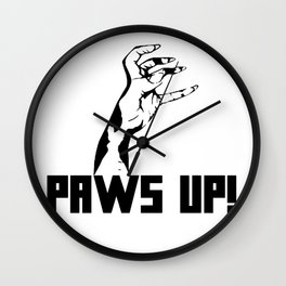 Paws Up! Wall Clock