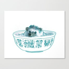 Hedgehog Hot Tub #2 Canvas Print