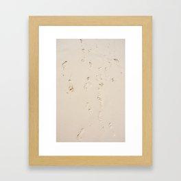 Sand foot Framed Art Print