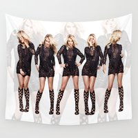 britney spears Wall Tapestries featuring Britney Strike a Pose by eriicms