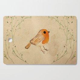 Robin in the hedge tea stain Cutting Board